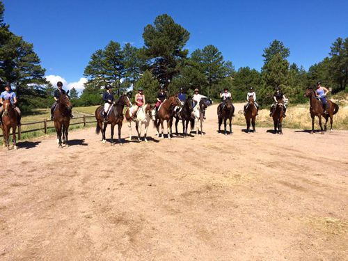 Horseback Riding Lessons at Two Hawks Ranch in Larkspur, Colorado